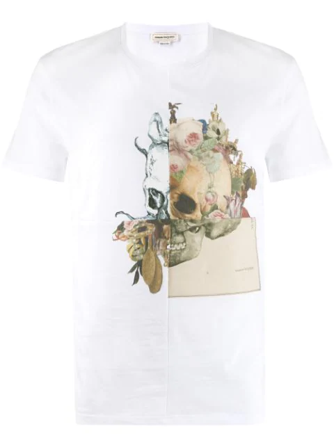 Alexander Mcqueen White Skull Cotton T-Shirt
