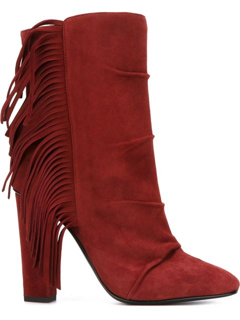 Giuseppe Zanotti Fringed Boots In Brown