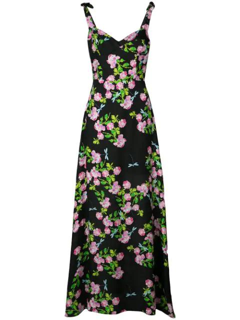 Cynthia Rowley Ten Rose Maxi Dress In Rosfl - Rose Floral