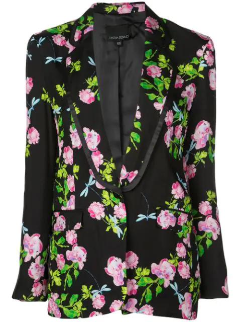 Cynthia Rowley Bourbon Rose Blazer In Black