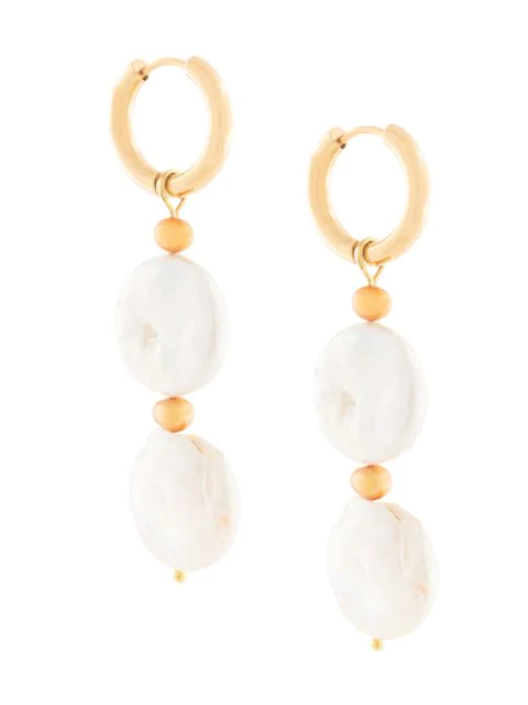 Sandralexandra Isabela Beaded Earrings In Gold