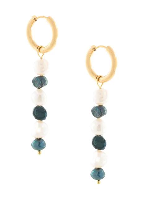 Sandralexandra Mia Beaded Pearl Earrings In Gold