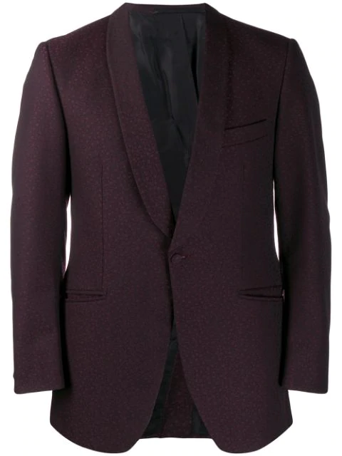 Pre-owned A.n.g.e.l.o. Vintage Cult 1960's Dotted Jacquard Blazer In Purple