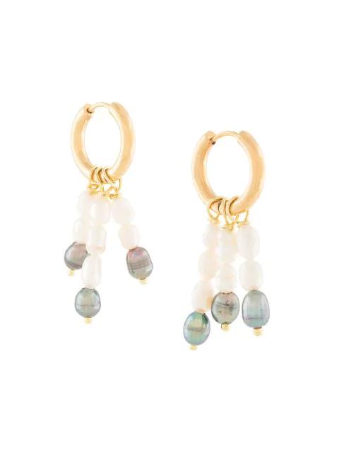Sandralexandra 'trinity' Ohrring Mit Perlen In Gold