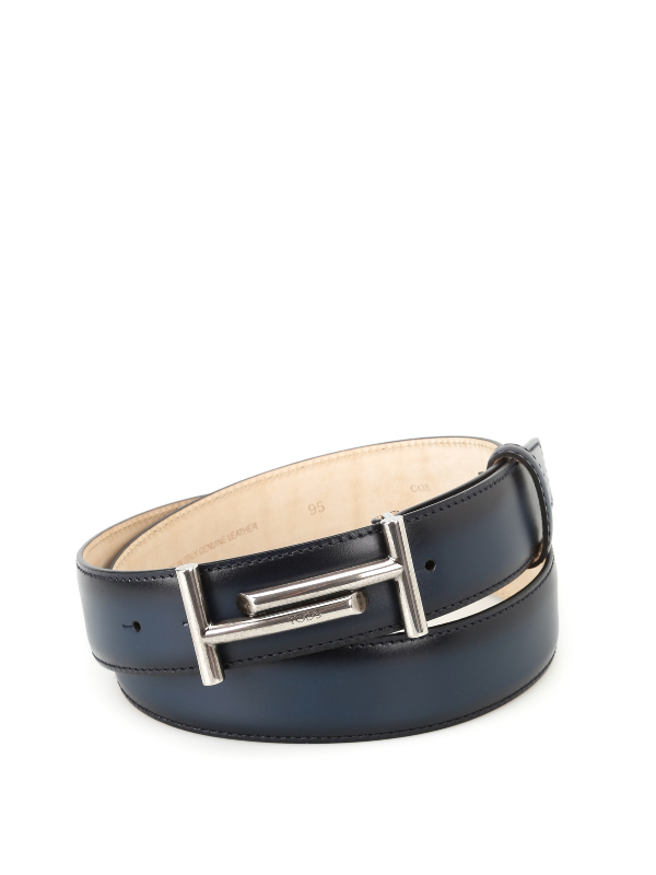 Tod's Shaded Blue Leather Belt
