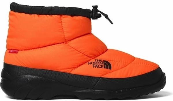 Pre-owned The North Face  Nuptse Bootie Supreme Orange In Power Orange