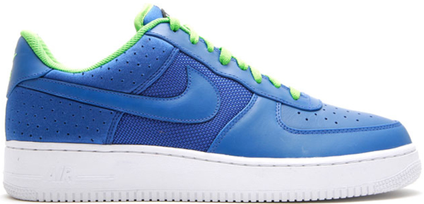 Pre-owned Air Force 1 Low Huarache Blue Green In Varsity Royal/varsity Royal-mine Green-white