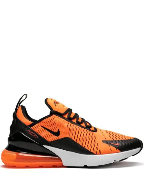 nike air max 270 orange and black