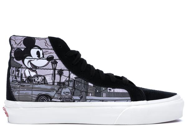 Pre-owned Vans  Sk8-hi Disney X Mr. Cartoon In Black