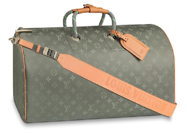 Louis Vuitton Keepall Bandouliere Monogram Titanium 50 Grey