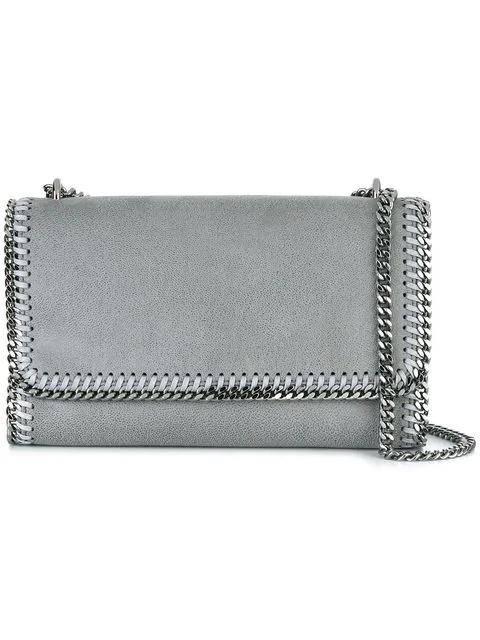 Stella Mccartney Falabella Shoulder Bag In Grey