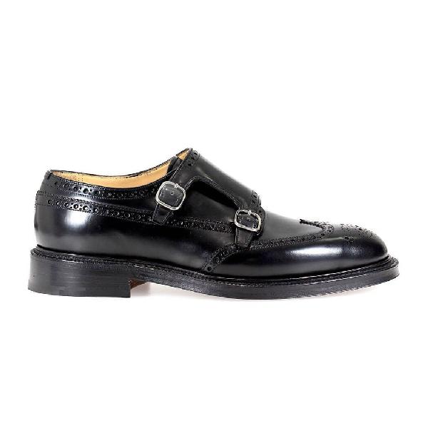 Church's Monkton Monk Strap Brogue Shoes In Black