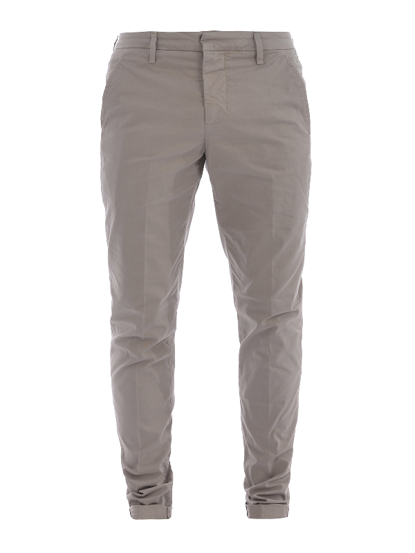 Dondup Gaubert Light Cotton Trousers In Beige