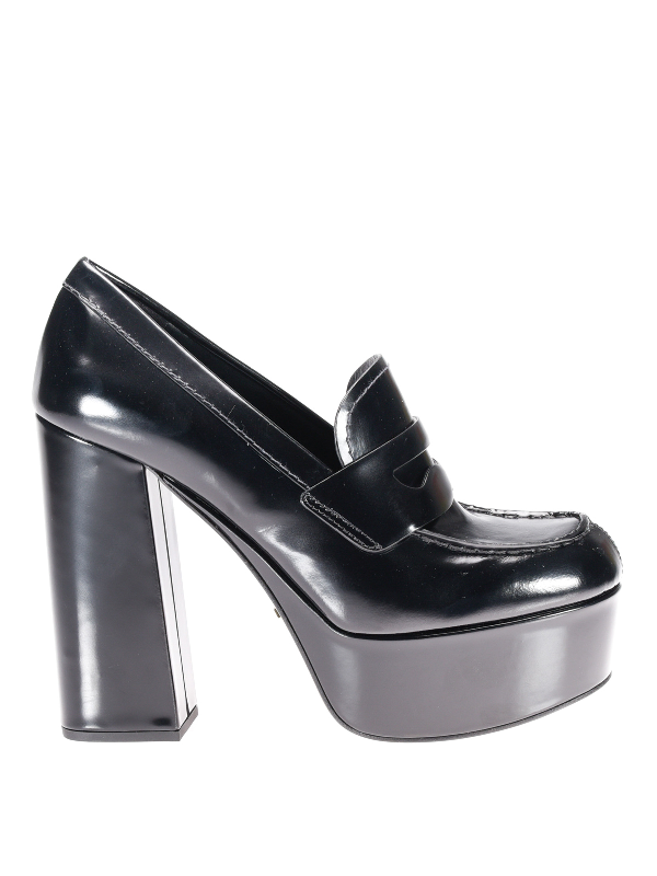 Prada Loafer-inspired Court Shoes In Black