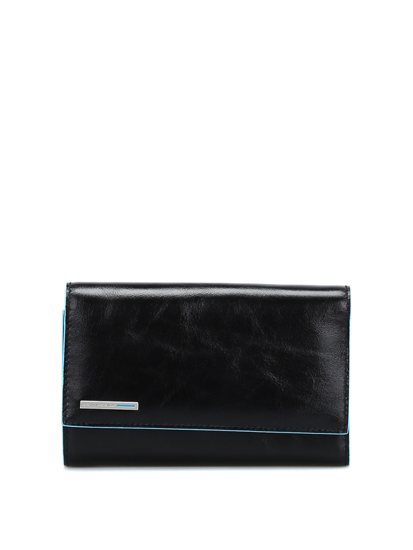 Piquadro Black Leather Wallet