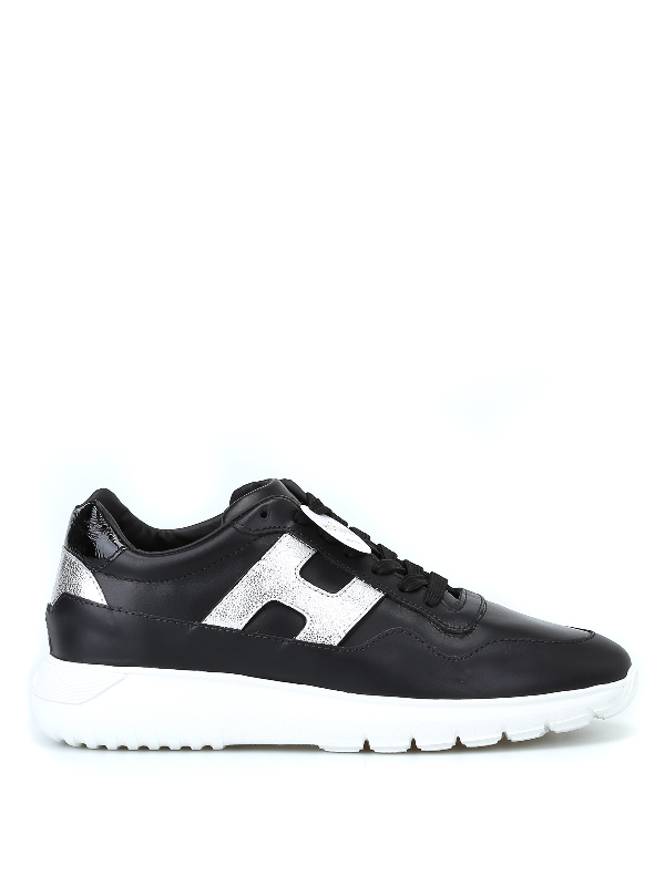 Hogan Interactive Black And Silver  Sneakers