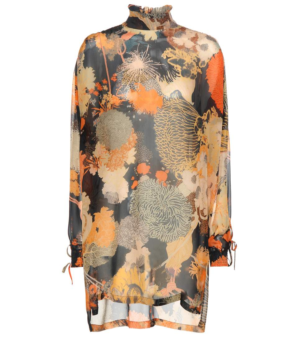 9d44f2b316 Dries Van Noten Celano Printed Silk Dress In Eav