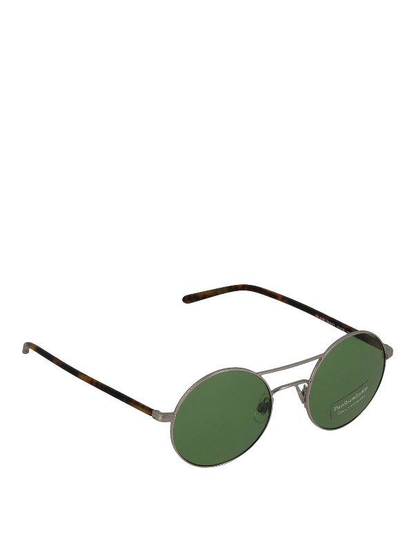 Polo Ralph Lauren Antique Silver And Acetate Round Sunglasses
