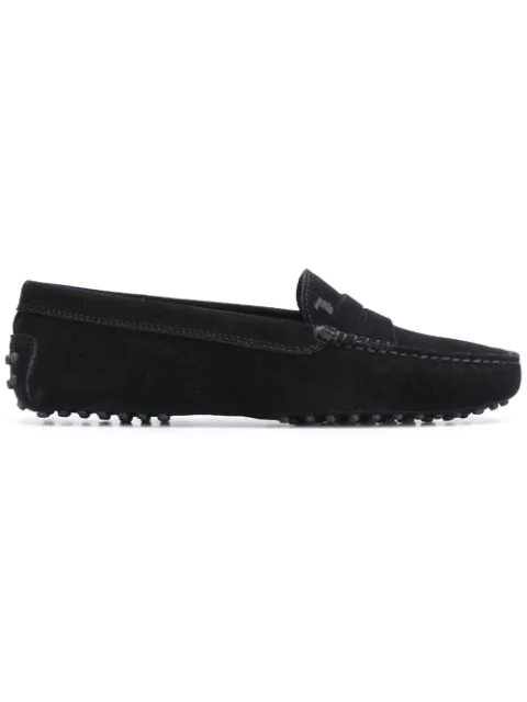 Tod's Women's Gommino Suede Driving Loafers In Black
