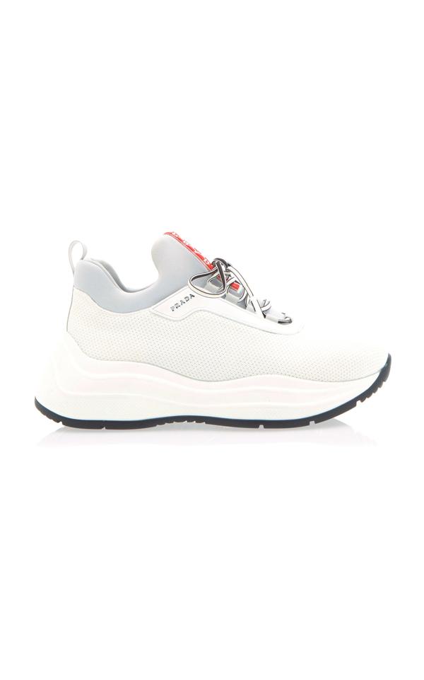Prada America's Cup Sneakers In White