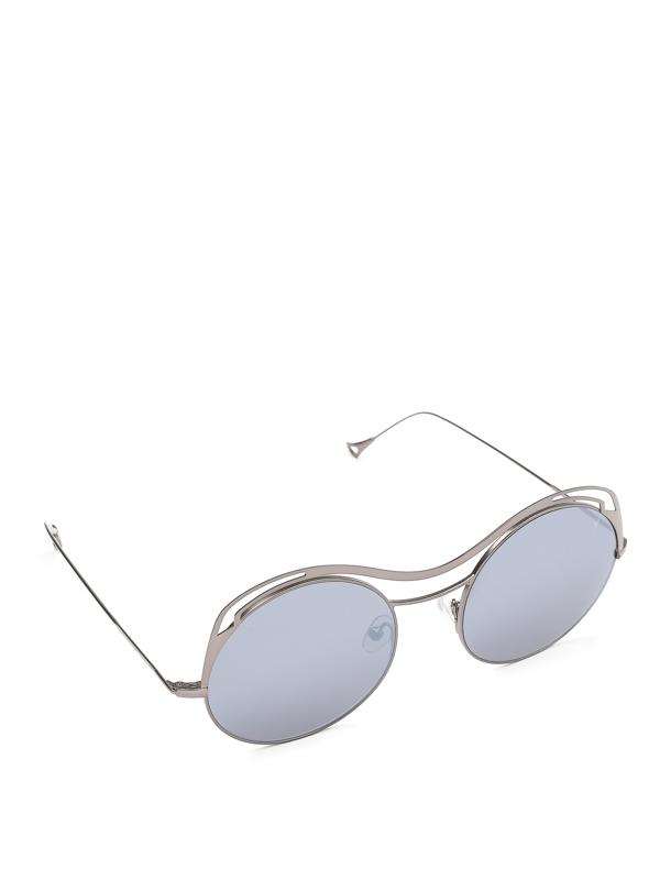 Eyepetizer Sofia Ultralight Gun Metal Frame Sunglasses In C.1-12f