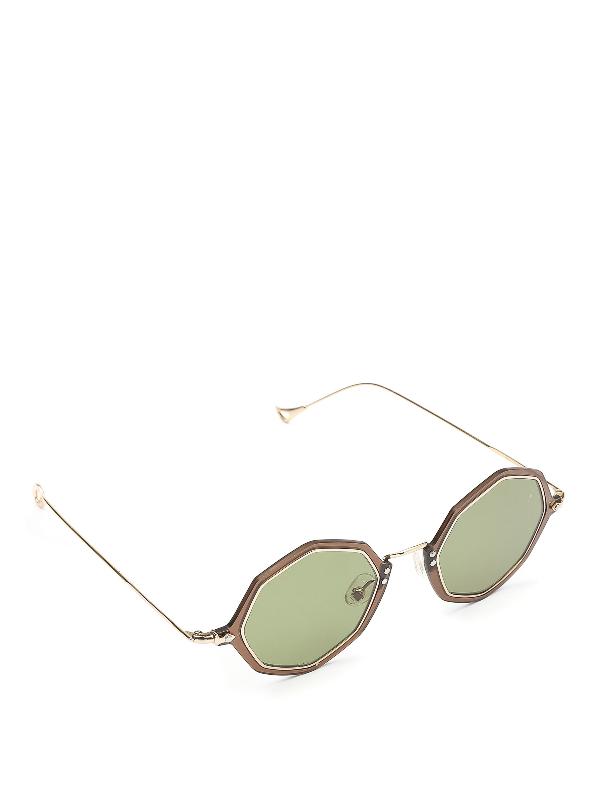 Eyepetizer Bel Octagonal Frame Sunglasses In Brown