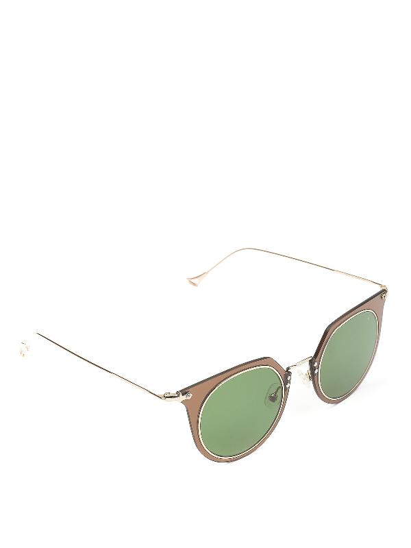 Eyepetizer Brigitte Two-tone Double Lens Sunglasses In C.h-2-1