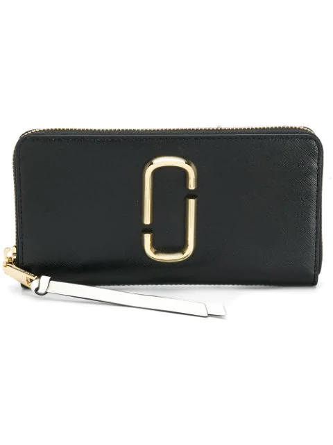 Marc Jacobs Snapshot Black Leather Continental Wallet