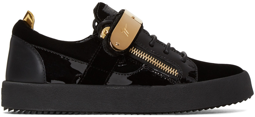 fafc266247103 Giuseppe Zanotti Black Velvet London Sneakers In Veronica Nv | ModeSens