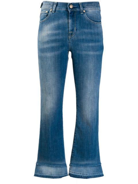 Jacob Cohen Frida Stretch Cotton Crop Jeans In Blue
