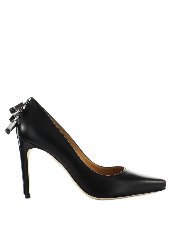 Dsquared2 Leather Pumps With Padlocks In Black