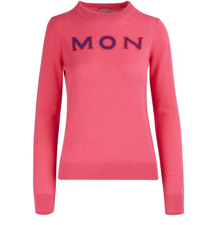 Moncler Mon Cler Cashmere Fuchsia Sweater In Pink