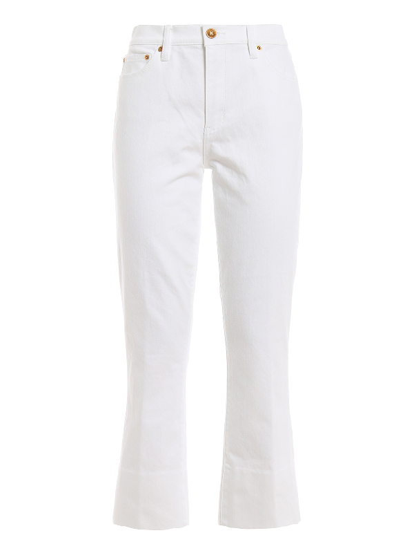 Tory Burch Alana Jeans In White