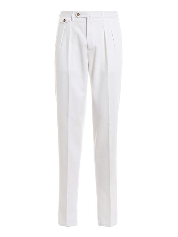 Pt 01 The Draper White Cotton Trousers