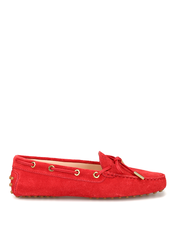 043e0b62d166a Tod's Heaven Red Suede Driver Loafers | ModeSens