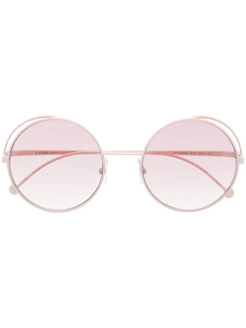 Fendi Pink Metal Sunglasses