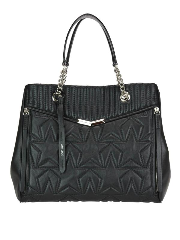 Jimmy Choo Helia L Black Leather Tote Bag