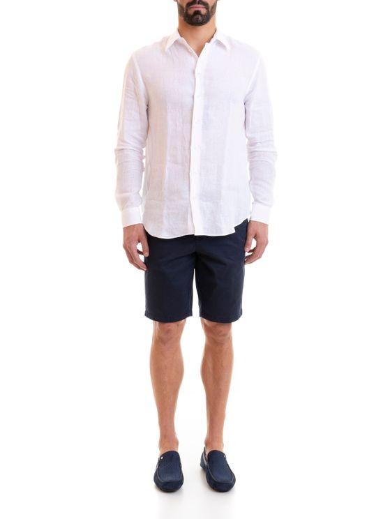 Emporio Armani White Linen Shirt
