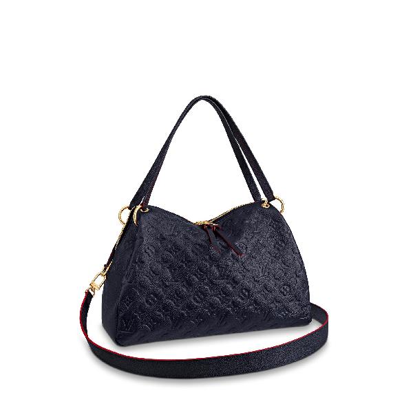 Louis Vuitton Shoulder Bag Ponthieu Monogram Empreinte Pm Marine Rouge