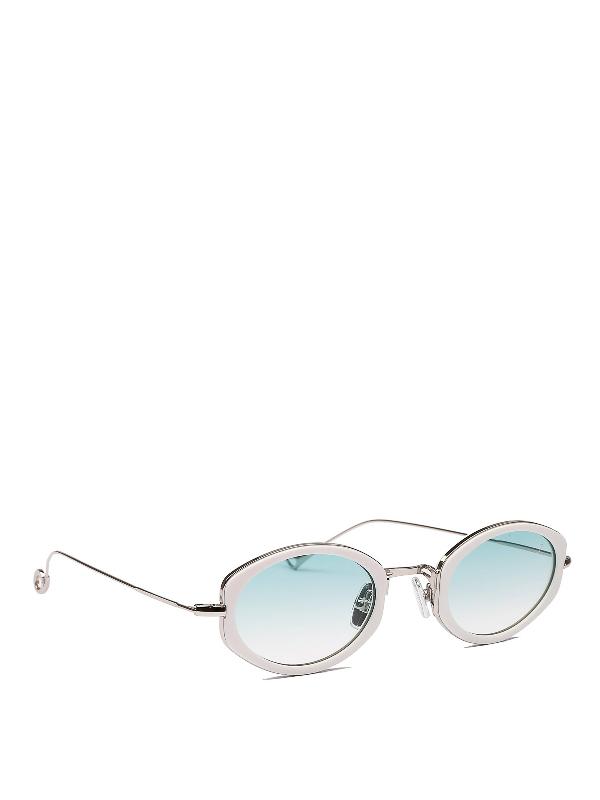 Eyepetizer Grace Grey Acetate And Metal Sunglasses In C.c-1-21