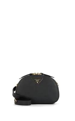 Prada Odette Black Leather Logo Detailed Belt Bag