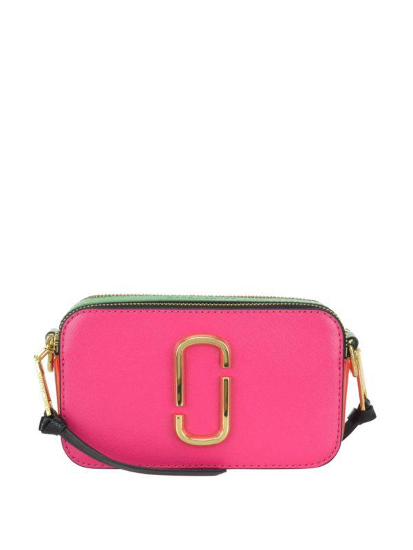Marc Jacobs Snapshot Small Camera Fuchsia Cross Body Bag In Multicolour