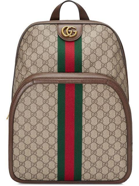 2ca8769c5a Ophidia Backpack Gg Supreme Medium Beige/Ebony in Brown