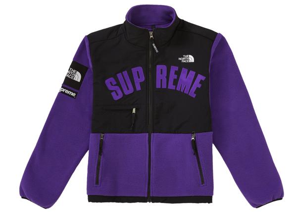 Pre-owned Supreme  The North Face Arc Logo Denali Fleece Jacket Purple