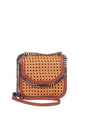 3945e95264 Stella Mccartney The Falabella Box Medium Woven Faux Leather Shoulder Bag  In Oak Moss