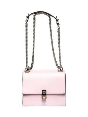 0a21473ef987 Fendi Kan I Mini Leather Chain Shoulder Bag