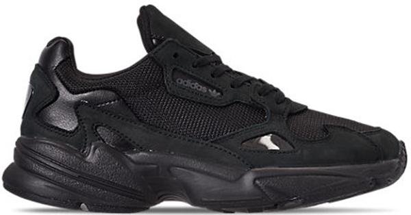 Pre-owned Adidas Originals  Falcon Core Black Grey Five (w) In Core Black/core Black/grey Five