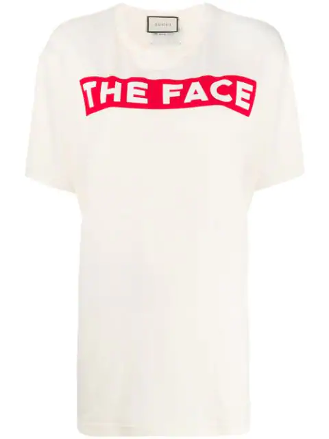 Gucci The Face-print Cotton Jersey T-shirt In 7136 Sunkissed/multicolor