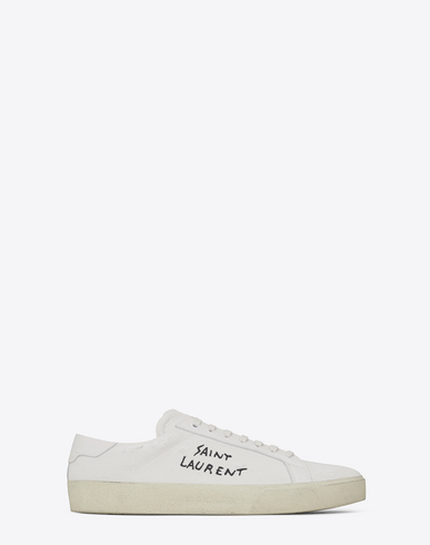 16677175941e Saint Laurent Classic Court Sneakers In White