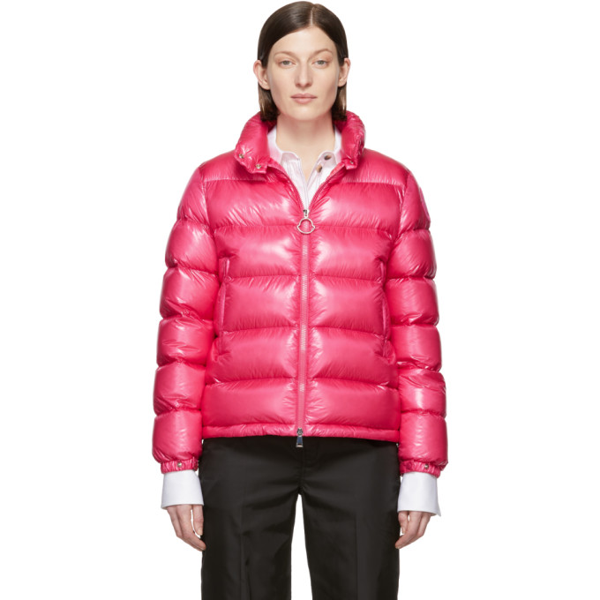 Moncler 'copenhague' Down Padded Puffer Jacket In 522 Pink